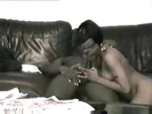 Black ghetto couple from the hood sofa sex