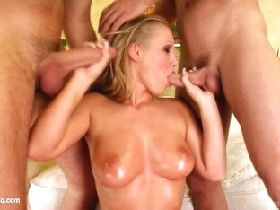 Big boobs Kyra gets her tits fucked gonzo style on Prime Cups