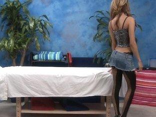 Veronica posing before massaging
