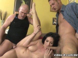 Exotic pornstars Mark Davis, Roxanne Hall, Danny Mountain in Fabulous Threesomes, Big Tits porn mo.