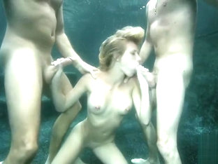 Underwater threesome