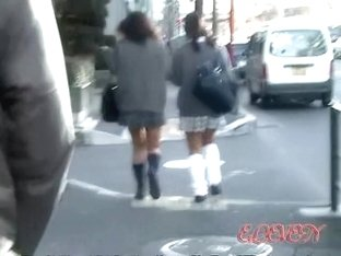 Seductive Japanese schoolgirl get double surprised during sharking attack
