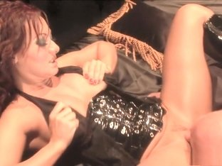 Nasty redhead milf with big tits has a stud roughly fucking her pussy