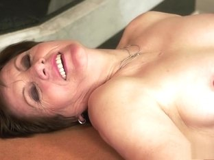 Insatiable redhead mommy with a lovely ass is a sucker for young meat