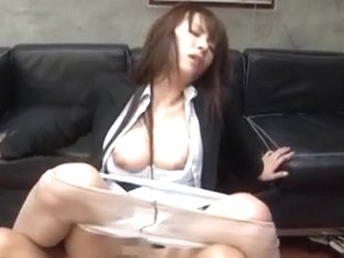 MILF Sae Aihara´s pantyhose pulled down to be fucked at work