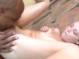 White slut gets raped by a handsome black dude and his hard cock