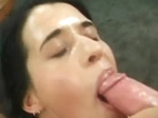 Brunette Hair receives gang screwed and swallows six loads!