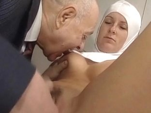 Nun and obscene old boyfrend - soft
