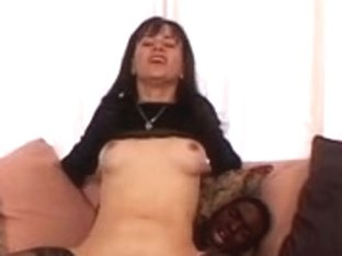 Chick in stockings acquires her snatch pumped