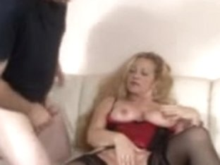 Horny kinky granny fucking her younger boyfriend