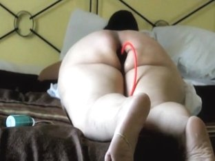 Naughty large bewitching woman is plugged and whipped hard