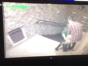 Hidden camera caught youthful pair fucking in hallway