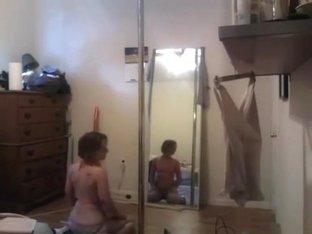 Most Excellent twerking livecam non-professional movie scene