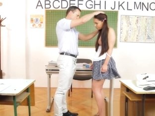 Petite Schoolgirl Dominated In The Classroom