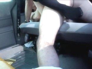 Non-Professional fuck and creampie in car