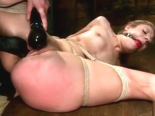 Snazzy Chastity Lynn in real BDSM action