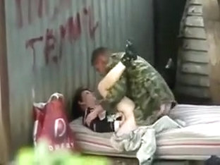 Russian homeless fuck outdoor