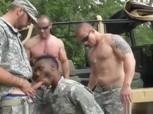 Black buff army man tied up jacking off hot naked gay sexy fuck boy After