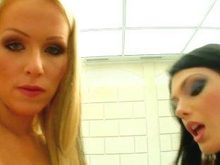 Patrisha & Sandra B gets a load of sperm inside her on All Internal