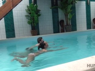 HUNT4K. Hunter picked up slut Anna Rose for nice sex in private pool