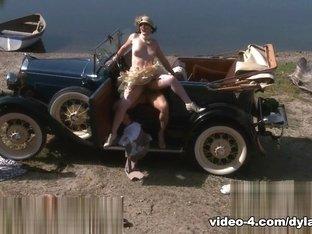Hottest pornstar Dylan Ryder in Exotic Stockings, Outdoor sex scene