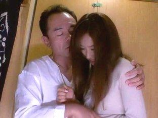 Crazy Japanese model Iroha Natsume in Amazing blowjob, couple JAV scene