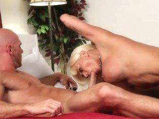 Fabulous pornstars Alison Tyler and Nikita Von James in amazing blowjob, big tits sex movie