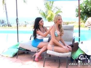 Exotic pornstars Brett Rossi, Taylor Vixen in Hottest Lesbian, HD adult video