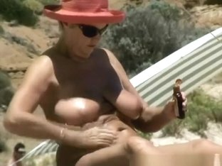 Busty nudist granny