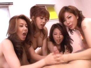 Crazy Japanese slut Jun Rukawa, Chisato Shouda, Yuuki Seto in Amazing Fingering, POV JAV movie