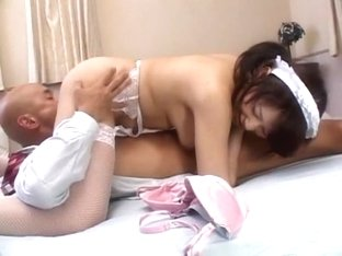 Hottest Japanese slut Misato Aoki in Fabulous POV, Stockings JAV clip