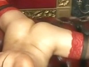 Jada oiled up on a Sofa on BS