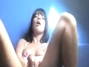 Delightsome darksome brown camming her muff play