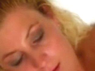 Plump Corpulent Blond Ex GF masturbating and riding Penis
