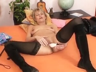 Sexy female-dominant lady performs immodest masturbation