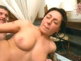 Busty Italian angel loved the taste of jizz