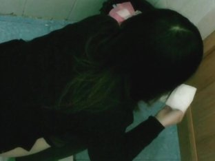 Public toilet asian girl pissing voyeur video