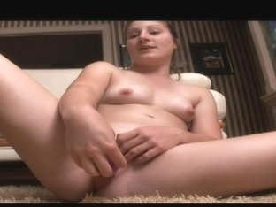 real college girl blasting herself with a dildo