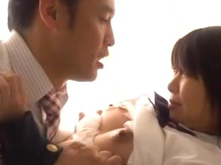 Schoolgirl held down blowjob and aggressive sex Mikan Kururugi
