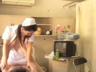 Savory naughty nurse rides a big stiff pecker and loves it