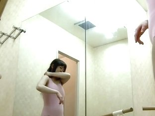 Sexy girl in a dressing room gets ready for her ballet class