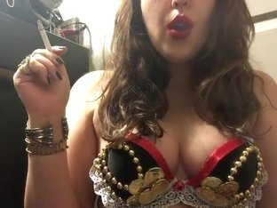 Chubby Teen Pirate Wench Smoking Big Natural Perky Tits Sexy Costume