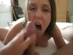 British beauty getting screwed with large load on her delicious face