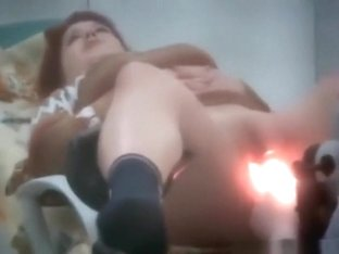 Voyeur tapes a redhead girl having a gynaecology exam