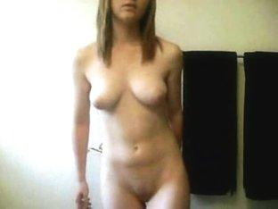 Sly blonde's striptease