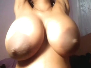 Playing with my big tits on video