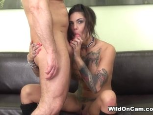 Horny pornstar Bonnie Rotten in Incredible Brunette, Tattoos sex scene