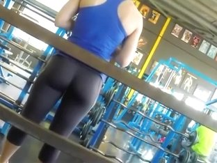 Strong girl caught by a gym voyeur