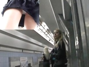 One hottest upskirt at the metropolitan station