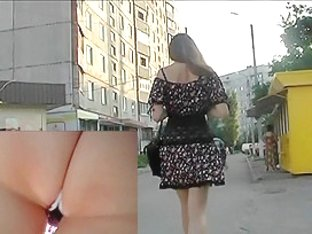 Flower-dotted suit upskirt episode